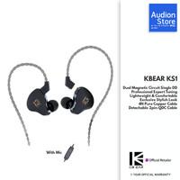 KBEAR KS1/KS 1 Dual Magnetic Dynamic Driver QDC 2pin IEM with Mic
