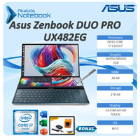 Asus Zenbook Pro Duo UX482EG Touch i7 1165G7 16GB 1TBssd MX450