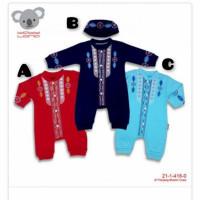 Jumper jumpsuit koko aqiqah baju muslim bayi laki-laki