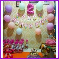 Paket Dekorasi Ulang Tahun Anak Sederhana ( Banner Reg, Balon 10 pc ,