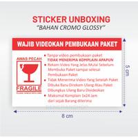 STIKER VIDEO UNBOXING - STICKER FRAGILE PECAH BELAH 8x5 cm