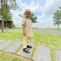 Baju Koko anak laki-laki cowok muslim Jovanka peci kopiah - beidge, 8