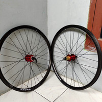 wheelset sepeda MTB ukuran 27.5 merk araya SR25 HUB PACIFIC 409 CAKRAM