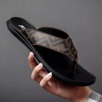 Fashion Sandal Pria Model Klasik Sandal Musim Panas Berkualitas - Hitam, 38