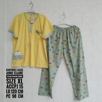 Setelan Kaos ANNE CLAIRE Lengan Pendek Celana Panjang Jumbo (ACCPJ)
