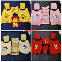 5in1 Bantal mobil / Cover bangku / seatbelt / Tempat Tissue Karakter