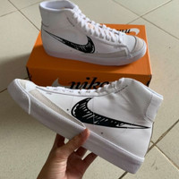 Sepatu Nike Blazer Mid 77 Sketch White Black
