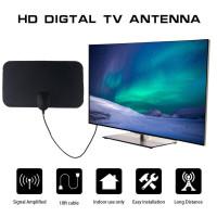 Antena TV Indoor Dalam Rumah Anttena Tempel Televisi Digital Jernih 4K