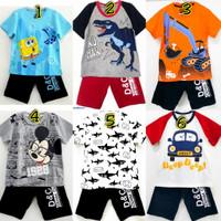 Setelan kaos baju anak laki laki size 1 2 3 4 5 6 7 8 9 10 tahun #3224