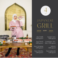 Japanese Grill Package Hapimeats X Tasya Farasya & Tasyi Athasyia 4pax