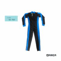 Baju renang Selam panjang anak SD usia 6-10th - Biru Muda, M