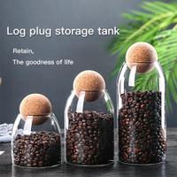 coffee bean glass canister storage jar / toples botol kaca biji kopi