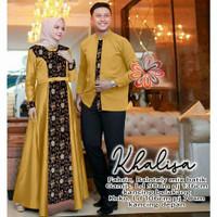 Gamis Syari Muslimah Pasangan Keluarga Baju Batik Couple Muslim Dewasa
