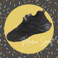 Sepatu Sekolah TK SD Anak Laki-laki Perempuan Sporty Hitam Full Black