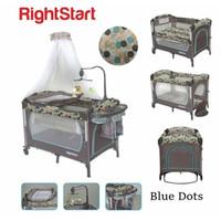 Right Start Baby Box Playard - Baby Box - Blue Dots