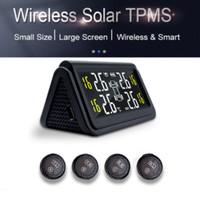 Solar TPMS Large Screen Tire Pressure Pengukur Tekanan Angin Ban Mobil