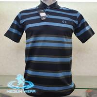 Kaos Kerah Salur size M merk MEDIUM / Poloshirt