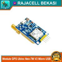 Module GPS Ublox Neo-7M V2 Neo 7M Micro USB double antena for Arduino