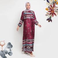 Gamis Yumna Kamilaa Itang Yunasz - Maroon, S