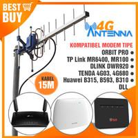 Antena Yagi Grid Modem Orbit Pro TPLINK MR6400 MR100 DWR920 TENDA 4G03