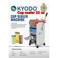 Cup Sealer KYODO 22 oz Mesin Pres Plastik Sealing Machine Bubble