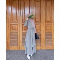 Baju Gamis Syari Wanita Terbaru Amelia Set (Outer+Rok) Termurah