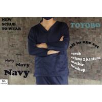 READY!! Baju OK Toyobo Premium / Baju Jaga / Baju Oka / Scrub / APD