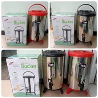 Water Jug Drink Jar Milk Tea Bucket Stainless Steel 10L - Polos SA 555