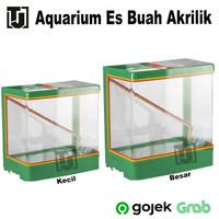 Tempat Es Kelapa Acrylic Es Buah + Gayung / Aquarium Akrilik KECIL LS