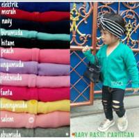 Baby basic cardy / baju cardigan rajut anak