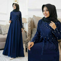 Busana baju dress gamis syari Muslim Wanita Dewasa Terbaru GH001