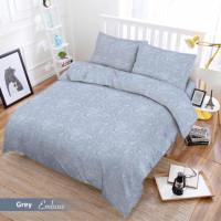 Full Set Bedcover + Sprei Vito 3D Polos Single 120 Warna Grey Abu-abu