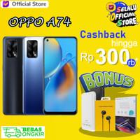 OPPO A74 6/128GB A 74 Garansi Resmi 6 GB 128 GB Hitam Silver Biru
