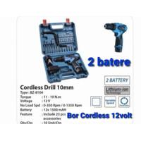 BOR CORDLESS Drill 12Volt BENZ 24 Pcs Set Bor Baterai 12 V BZ 8004