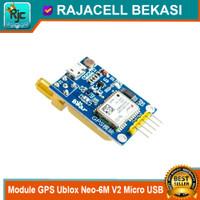 Module GPS Ublox Neo-6M V2 Neo 6M Micro USB double antena for Arduino