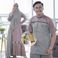 CE Couple Baju Muslim Syari Set Hijab Murah Terbaru Haiya
