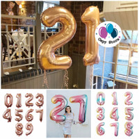 Balon Foil Huruf / Balon Foil Angka Besar 80cm