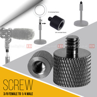 """Converter Screw Metal 3/8"""" Female To 1/4"""" Male For Camera,Microphone"""