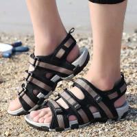 Fashion Sandal Pria Kasual Sandal Musim Panas Tahan Air - Grey, 39