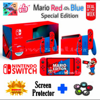 Nintendo switch mario edition red and blue V2 special edition - V2