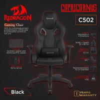 Redragon CAPRICORNUS C502 Premium Quality Kursi Gaming Chair BLACK