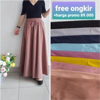 rok panjang wanita baju lebaran maxi skirt rok muslim