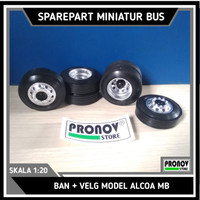 Ban Miniatur Bus Skala 1:20 (karet 5,8cm)
