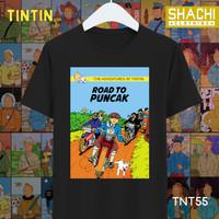 Kaos Baju Tintin Komik Tintin Jadul AA - Color Premium 24s S-XXL