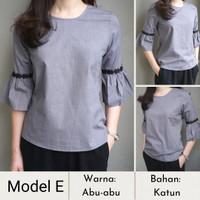 Baju Wanita/Blouse/Blazer Basic dan Elegan-Style Korea - Model E, S