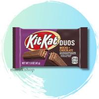 KIT KAT DUOS Mocha Crème and Chocolate Wafer Candy KItkat cokelat