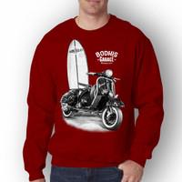 Baju Pria BODHIS Lengan Panjang T-shirt Distro/Sweatshirt Pria Terbaru