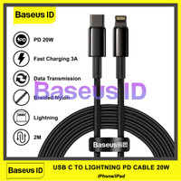 Baseus Kabel Data PD 20W USB Type C To Lightning Fast Charging iPhone