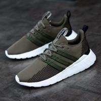 Sepatu Adidas Questar Flow Olive Green BNWB