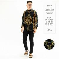 Baju Batik Koko Pria Lengan Panjang Motif Formal